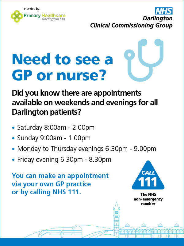 Need to see a GP or nurse?